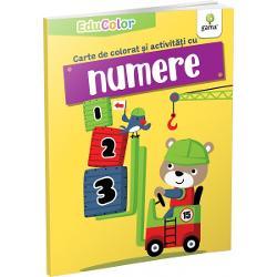 Cartea de colorat &537;i activit&259;&539;i cu numereurm&259;re&537;te înv&259;&539;area numerelor pân&259; la 10 într-un mod amuzant care s&259; captiveze copilul dar în acela&537;i timp s&259;-i îmbun&259;t&259;&539;easc&259; abilit&259;&539;ile cognitiveColec&539;ia EduColoreste destinat&259; pre&537;colarilor