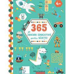 365 de jocuri educative pentru b&259;ie&539;ei iste&539;i &537;i curio&537;i Un an &238;ntreg de sudoku puzzle-uri labirinturi &537;i multe alte jocuri captivante &537;i distractive C&226;te o activitate de rezolvat cu pl&259;cere &238;n fiecare zi Distrac&539;ie pl&259;cut&259;