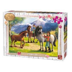 Puzzle 100 piese Grooming TimeIn cazul in care iubesti animalele si in special caii in mod sigur vei adora sa asamblezi acest puzzle superbDimensiuni puzzle244x177 cmDimensiuni cutie 255x19x45 cm