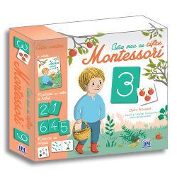 Cutia con&539;ine materiale inspirate din metoda Montessori pentru înv&259;&539;area cifrelor Autoarele Celine Santini &537;i Vendula Kachel sunt fondatoarele unei &537;coli Montessori - O poveste pentru a înv&259;&539;a numerotarea - 10 jetoane cu cifre în relief - 11 jetoane cu desene pentru asocierea imaginilor cu cifrele Introduce&539;i cifrele în via&539;a copilului dumneavoastr&259; cu ajutorul materialelor inspirate