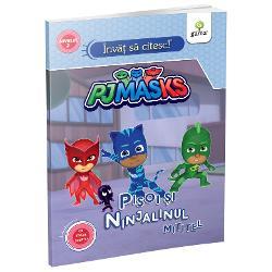 La &537;coal&259; Connor descoper&259; lâng&259; banca lui o foaie cu urme ciudate tocmai când Cameron îl roag&259; s&259;-l ajute la teme Dar Connor nu are timp trebuie s&259; descopere ale cui sunt urmele Par a fi urme de ninjalin În timp ce Eroii în Pijama se întreab&259; dac&259; nu cumva Ninja Nocturnul pune ceva la cale apare un ninjalin mititel care nu se mai desprinde de Pisoi Este oare un