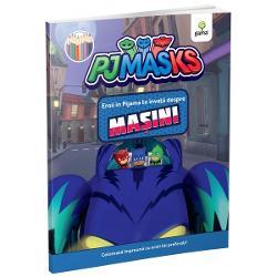 Bufni&539;a &536;opi &537;i Pisoi personajele serialului animatEroi în pijama conduc vehicule absolut uimitoare Le ve&539;i reg&259;si pe toate în aceast&259; carte de colorat cu supereroi