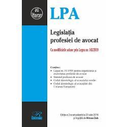 Legislatia profesiei de avocat Cu modificarile aduse prin Legea nr 1422019Contine- Legea nr 511995 pentru organizarea si exercitarea profesiei de avocat- Statutul profesiei de avocat- Codul deontologic al avocatului roman- Codul deontologic al avocatilor din Uniunea EuropeanaEditia a 2-a actualizata la 23 iulie 2019 si ingrijita de Mircea Dub