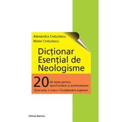 Acest dictionar plus cele 20 de teste de sprijin asigura&131; elevului suportul necesar pentru fixarea sensurile neologismelor prin parcurgerea testelor-grila&131; iar profesorilor noi oportunita&131;ti in predarea vocabularului limbii romane