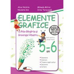 Caietul este conceput în conformitate cu Obiectivele Cadru &351;i de Referin&355;&259; ale Domeniului Limb&259; &351;i Comunicare din cadrul Curriculumului pentru educa&355;ie timpurieCu ajutorul personajelor - Ri&355;a &351;i Greiera&351;ul - copiii descoper&259; prin joc semnele grafice &351;i le exerseaz&259; în cadrul desenelor &351;i pe spa&355;iile corespunz&259;toare folosind creioanele colorate &351;i creionul negruStructura caietului
