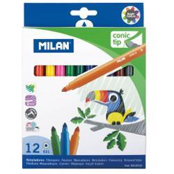 Carioca 12culori varf conic Milan 0612312 imagine librarie clb