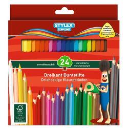 Creioane coloratede calitate-24 culoriAmbalaj cutie carton