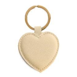 Breloc Piele Inima Auriu A240051 imagine librarie clb
