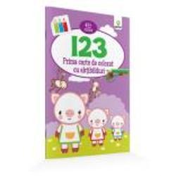 """Cartea de colorat""""123""""ajut la înv&259;&539;area cifrelor &537;i este potrivit&259; chiar &537;i pentru copiii cuvârsta de 2 ani care au acum prilejul s&259; exerseze &539;inerea pensulei cariocii sau a creionului &537;i s&259;-&537;i îmbun&259;t&259;&539;easc&259; astfel motricitatea fin&259; Liniile de contur indic&259; în ce nuan&539;&259; poate fi colorat fiecare element prilej pentru"""