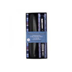 Set cadou stilou caligrafic cu penita iridium +etui negru MC5201 imagine librarie clb
