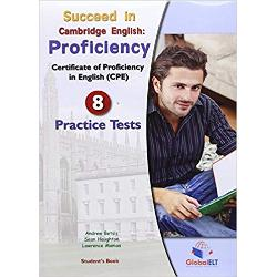 8 complete Cambridge English Proficiency Practice Tests Full-colour Speaking section for Paper 3-Speaking Self-study Edition; a comprehensive guide including a Writing Supplement with model Compositions marked according to Cambridge ESOL guidelines detailed JUSTIFICATION of the Answers for all key parts of each practice test Audioscripts & Key GLOSSARY with English definitions available