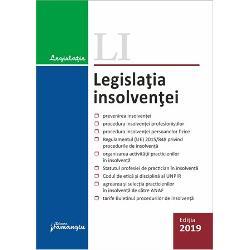 Legislatia insolventei prezinta reglementarea cu privire la procedurile de insolventa aplicabile atat profesionistilor cat si persoanelor fizice precum si cadrul normativ al profesiei de practician in insolventaLegea nr 852014 privind procedurile de prevenire a insolventei si de insolventa inglobeaza in prezent proceduri aplicabile profesionistilor prevazute anterior de mai multe acte normative Legea nr 852006 privind procedura insolventei Legea nr 3812009 privind