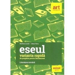 Lucrarea propune o metod&259; rapid&259; &351;i eficient&259; de preg&259;tire a eseului structurat subiectul cu cea mai mare complexitate din cadrul probei scrise de limba &351;i literatura român&259; a examenului de bacalaureat Ca s&259; asimileze cât mai multe informa&355;ii corect &351;i intr-un timp cât mai scurt candida&355;ii trebuie s&259; parcurg&259; dou&259; etape concretizate în1 planul eseului în care sunt sistematizate