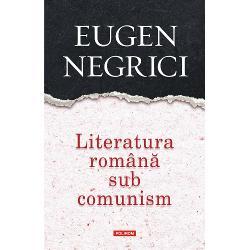 Volum de istorie literar&259;sui-generis cartea urm&259;re&351;te evolu&355;ia fenomenului artistic românesc în condi&355;iile tragice ale unei societ&259;&355;i opresive &351;i eforturile excep&355;ionale ale scriitorilor români de a face s&259; func&355;ioneze cu cît mai pu&355;ine concesii institu&355;ia literaturii Studiul trateaz&259; cele cinci etape distincte decelate de critic în evolu&355;ia literaturii în