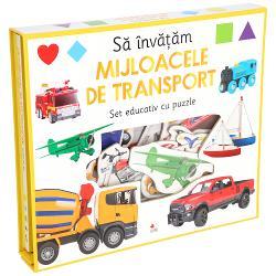 Cartea cu imagini viu colorate &537;i piesele mari de puzzle care trebuie potrivite la locurile lor &238;i vor ajuta pe micu&539;i s&259;-&537;i dezvolte capacit&259;&539;ile motrice &537;i s&259; &238;nve&539;e mijloacele de transport prin activit&259;&539;i de recunoa&537;tere