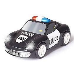 Masina de politie atinge si pleaca 6106A