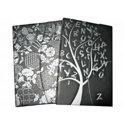 Agenda tip notes coperti cartonate policromie plastifiate mat insertie folio auriu 80 file hartie ivoire 80 gmp inchidere cu clapa magnetica semn de carte buzunar interior dimensiune9 x 14 cm