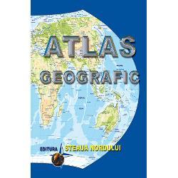 Acest atlas are in componenta atat hartile fizico-geografice ale