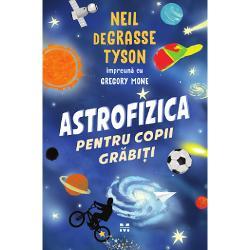 """Bestseller  1 New York TimesGhidul pentru cunoasterea Universuluial lui Neil deGrasse Tysonacum intr-o versiune pentru tinerii cititoriCare este diferenta dintre o stea si o supernovaCe intelegem prin materie si materie intunecataCe inseamna sa ai o """"perspectiva cosmica""""Pornind de la principiile de baza ale fizicii si ajungand la intrebarile esentiale despre natura spatiului si a"""
