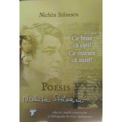 Pare prozaic sa-l situam pe Nichita Stanescu in spatiu si timp Marele poet devenise inca de pe vremea cand traia un simbol un om stilizat iar reinvestirea lui cu atribute omenesti familie scoala apartenenta la o generatie etc echivaleaza pentru multi cititori cu o demitizareTrebuie insa depasita aceasta forma naiva de admiratie Trebuie sa ne obisnuim cu ideea ca Nichita Stanescu a existat Bineinteles ca nimeni nu contesta acest fapt in sine dar aproape nimeni nu il ia in