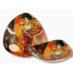 Bol din sticla  decorat cu motive din tabloul Adele KlimtDimensiune 17x17 cm