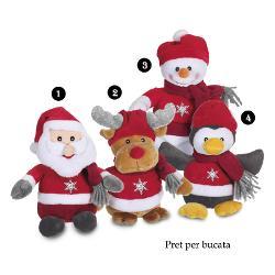 Jucarie de plus pentru Craciun cu sunet 24 cmdimensiune 24 cmjucarie din plus cu sunetpoti alege unul din cele&160;4 modele disponibile Mos Craciun ren om de zapada sau pinguin