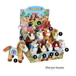 Ponei colorat - jucarie din plus cu sunet 22 cmdimensiune 22 cmponei din plus cu sa colorata si hampe fiecare model de ponei este brodat cate un numar pe sapoti alege unul din cele&160;12 modele disponibile