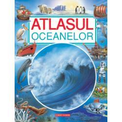 Destinat copiilor cu varste incepand de la 7 ani acest atlas prezinta lumea fascinanta a marilor si oceanelor de-a lungul a peste 40 de pagini bogat ilustrate cu harti simple si texte scurte