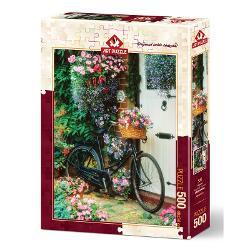 Puzzle Bicycle & Flowers 500 piesePetrece-ti timpul liber intr-un mod constructiv si totodata distractiv Rezolvarea puzzle-urilor te ajuta sa iti dezvolti noi aptitudiniCaracteristiciNumar piese 500Material CartonTematica ArtaDimensiune puzzle 48 x 34 cmDimensiune cutie 335 x 235 x 45 cmAtentionare Produsul este contraindicat copiilor sub varsta de 3 ani deoarece poate contine piese mici care pot fi inghitite sau inhalate existand pericolul de sufocare  Va