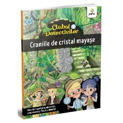 """În jungla mexican&259; au fost ascunse opt pre&539;ioase cranii de cristal care ar putea deschide un str&259;vechi portal maya&537; Arheologii le-au cerut ajutorul detectivilor Agata &537;i Arthur care trebuie s&259; g&259;seasc&259; nu doar craniile ci &537;i ho&539;ul care le-a furat de la muzeuColec&539;ia """"Clubul detectivilor"""" dezvolt&259; aten&539;ia concentrarea &537;i memoria C&259;r&539;ile sunt de tip """"caut&259; &537;i"""