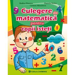 Culegerea de matematic&259; pentru copii iste&355;i – clasa a III-a este realizat&259; conform noii programe &351;colare în vigoare aprobat&259; prin ordinul ministrului educa&355;iei na&355;ionale nr 341819032013Aceasta cuprinde exerci&355;ii &351;i probleme variate organizate de la simplu la complex destinate exers&259;rii &351;i aprofund&259;rii La sfâr&351;itul fiec&259;rui capitol sunt prev&259;zute
