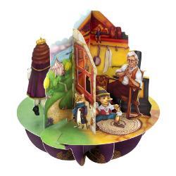 Felicitarea 3D Pirouettes Santoro-Aladdin Motanul Incaltat si Pinocchio poate fi un cadou perfect pentru un copil pasionat de personajele fictive dar si pentru adulti ca sa le poti aduce aminte de personajele copilariei Felicitarea 3D Pirouettes Santoro-Aladdin Motanul Incaltat si Pinocchio se va deschide la simpla rotirie a manerului in jurul bazei felicitarii si-ti va oferi o perspectiva unica 360&730; Pe spatele bazei vei regasi un camp pentru text ca