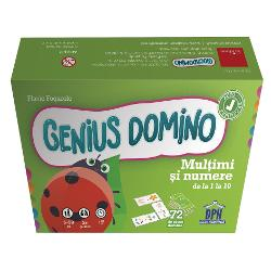 Potrive&537;te exerci&539;iul de pe piesa de domino cu rezultatul de pe alt&259; pies&259; Vrei s&259; verifici dac&259; ai r&259;spuns corect Nimic mai simplu Dac&259; marginea fiec&259;rui exerci&539;iu se potrive&537;te cu marginea rezultatului înseamn&259; c&259; ai reu&537;it Seria Genius Domino ofer&259; jocuri distractive &537;i didactice care sunt varia&539;ii ale jocului clasic de domino Aceste jocuri sunt excelente pentru sus&539;inerea