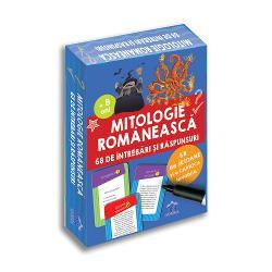 68 de întreb&259;ri &537;i r&259;spunsuri despre mitologia româneasc&259; pentru a-&539;i testa cuno&537;tin&539;ele sau pentru a afla informa&539;ii noi Po&539;i s&259; te joci singur sau împreun&259; cu prietenii t&259;i acas&259; sau în c&259;l&259;torii Bucur&259;-te de aceast&259; experien&539;&259; &537;i înva&539;&259; jucându-te ori de câte ori vrei s&259;-&539;i verifici cuno&537;tin&539;ele