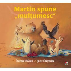 Martin st&259; &537;i-ascult&259; vântulsingur în bârlogul s&259;u –Tare dor i-e de prieteni&537;i se plictise&537;te r&259;uMartin se gânde&537;te s&259;-&537;i invite prietenii la mas&259; dar î&537;i d&259; seama c&259; nu are nimic de mâncare în dulap Rând pe rând prietenii lui vin în vizit&259; &537;i îi aduc tot felul de