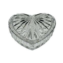 Caseta de bijuteriisaubombonieradepinde ce destinatie vrei sa ii dau Este o cutiuta speciala in forma de inimioara are 11 cm si poate fi folosita pentru depozitarea obiectelor pretioase Modelul elegant o face perfecta pentru a fi oferita drept cadou doamnelor si domnisoarelor Este potrivita pentru un cadou de 8 Martie Valentines Day sau un cadou inopinant pentru iubirea vietii tale Este realizata dinCristal de Bohemia24 PbO