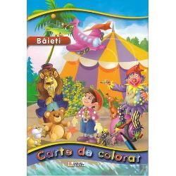 Baieti - carte de colorat