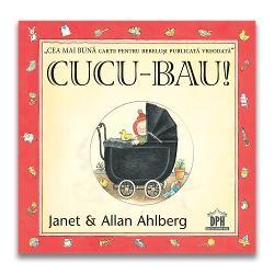 """""""Un doi trei Uite un bebe Din al s&259;u p&259;tu&539; Oare ce vede"""" Cucu-bau a devenito carte clasic&259; în întreaga lume pentru bebelu&537;i &537;i copii mici Con&539;inutul c&259;rtii urm&259;re&537;te activitatea unui bebelu&537; pe parcursul zilei într-un stil plin de spirit farmec &537;i ingeniozitate O serie de vizoare care reprezint&259; o trecere c&259;trepagina urm&259;toare"""