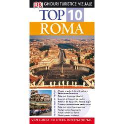 Oriunde a&539;i c&259;l&259;tori la clasa întâi sau cu un buget limitat acest Ghid Turistic Vizual v&259; conduce spre minunatele locuri pe care vi le poate oferi RomaListe diferite de Top 10 de la atrac&539;iile Romei nev&259;zute la festivaluri renumite pizzerii hoteluri &537;i magazine v&259; furnizeaz&259; toate informa&539;iile necesare Iar pentru a v&259;