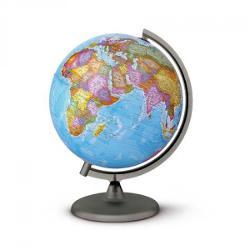 Glob pamantesc harta politica fara iluminare cu suport din plastic negru