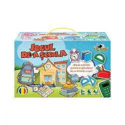 Pentru Baieti FeteVarsta 3 - 4 ani 4 - 5 ani 5 - 7 ani 7 - 8 aniBrand Noriel GamesAduna rechizitele potrivite in ghiozdanul tau ca sa inveti cu sporFiecare jucator primeste o plansa de joc cu ghiozdan iar cartonasele cu rechizite se pun la mijloc cu fata in jos Jucatorul care este la rand intoarce un cartonas Daca obiectul ilustrat pe el are aceeasi culoarea ca ghiozdanul jucatorului acesta pastreaza cartonasul Daca nu trebuie sa puna cartonasul la
