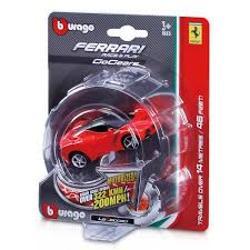 ntra in echipa Ferrari cu masinuta Ferrari este alegerea ideala pentru toti baietii pasionati de adrenalina si joaca Te vei distra de minune cu ajutorul acestei super masinute din gama Ferrari Ea face parte din seria Ferrari Go Gears este de culoare rosie si va deveni preferata celor mici Masinutele de la BBurago sunt modele in miniatura ale masinilor reale Acestea sunt realizate la scala de 118124 143 si respecta cele mai mici detalii ale modelelor replicate In colectiile Bburago