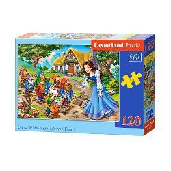 Puzzle de 120 de piese cu Alba ca Zapada si cei sapte piticiDimensiuni cutie 245×175×37cmdiv classcommerce-product-field commerce-product-field-field-puzzle-size