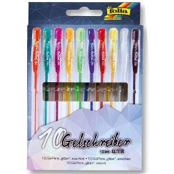 Set Pixuri Cu Gel Folia 10 Culori Glitter F1913