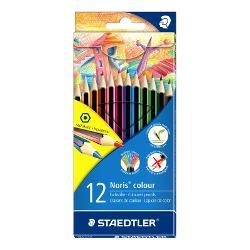 Primele creioane colorate realizate din materialul inovativ WOPEXForma traditionala hexagonalaRezistenta marita la rupereSetul contine 12 culori