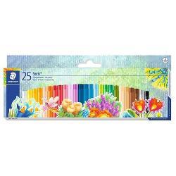 Creion color Staedtler pe baza de uleiCulori intense si stralucitoareSe preteaza bine la suprafete netedeAdecvat tehnicii pastel  uleiRezistent la apa si la ruperePentru colorat pictat si gravatØ 8 mm;Lungime 60 mm25 culori  set
