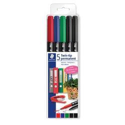 Ideale pentru aproape toate tipurile de suprafeteAcestea vin 5 culsetAu 2 capete unul pentru scriere fina iar celalalt pentru scriere groasaCulorile din set sunt rosu albastru verde si negru x2