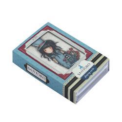 Gorjuss Carti de joc The HatterEste o colectie de carti de joc unice care sunt menite sa fie folosite pentru orice tip de joc dedicat Prezentate &238;n propriile cutii de plastic fiecare pachet con&539;ine 52 c&259;r&539;i de joc &537;i 2 c&259;r&539;i de jokerDimensiune 7 x 10 x 2 cm