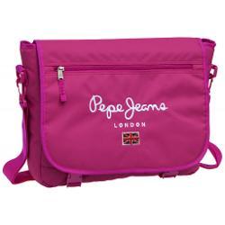Geanta cu compartiment special pentru laptop Pepe Jeans Original Pepe Pink 38 cm material poliester culoare fucsia buzunar exterior si bareta ajustabila de cca 90 cm