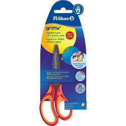 Foarfeca Pelikan Griffix pentru dreptaci maner din plastic rosuCaracteristiciFoarfeca 14 cm pentru dreptaci;Lama din titan;Grip ergonomic cauciucat;Varf rotunjit pentru modelare;